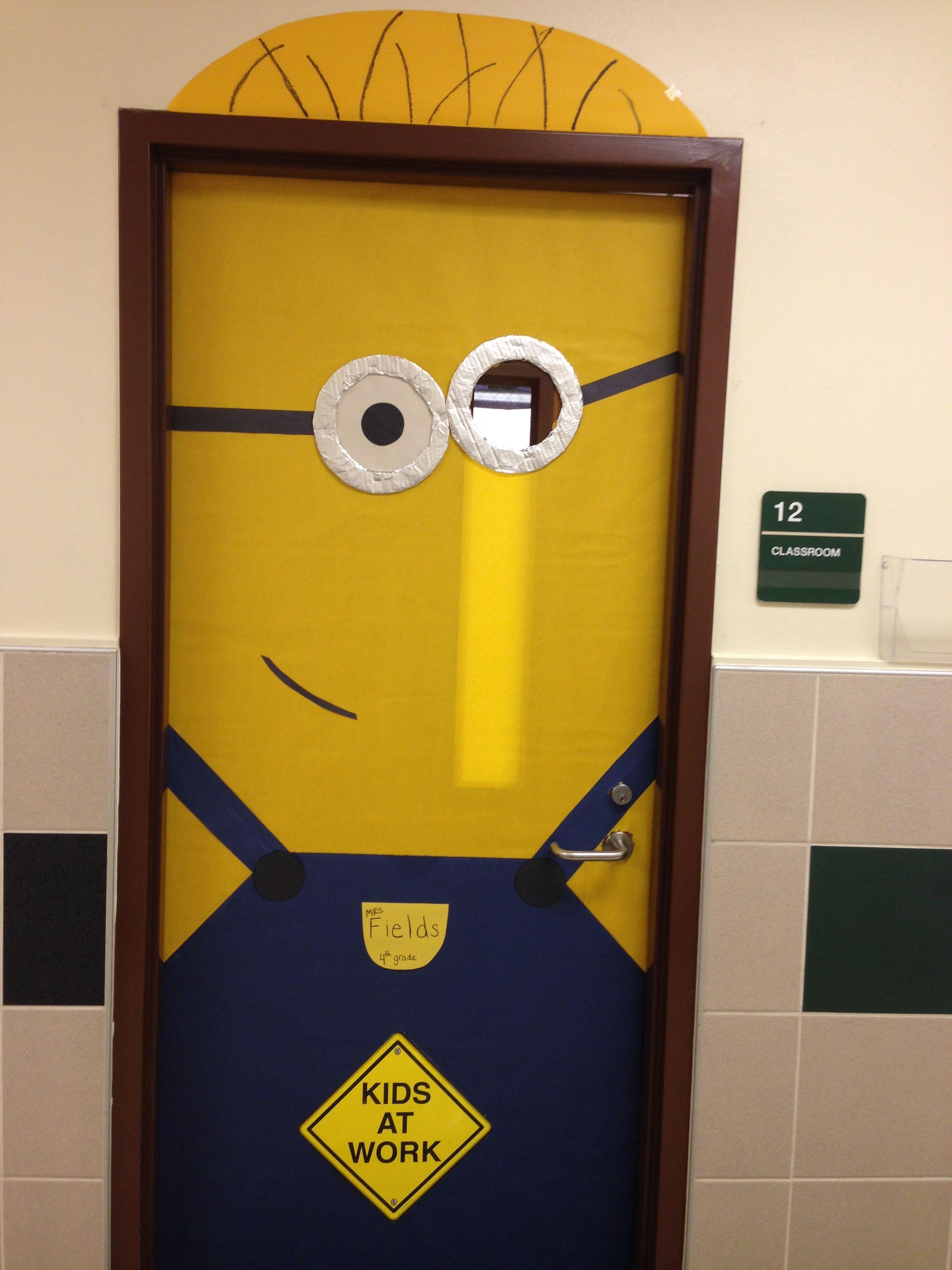 Minion classroom door ) School~Doors  Bulletin Boards - door decoration halloween