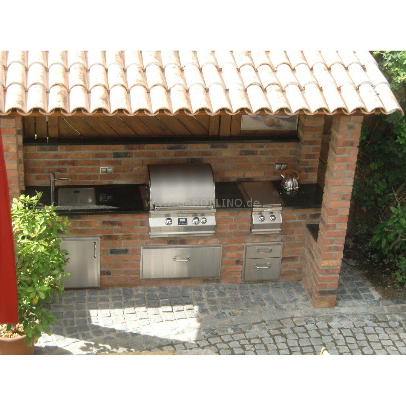 Outdoorküche outdoorküche aus backstein mit magic einbau gasgrill selber