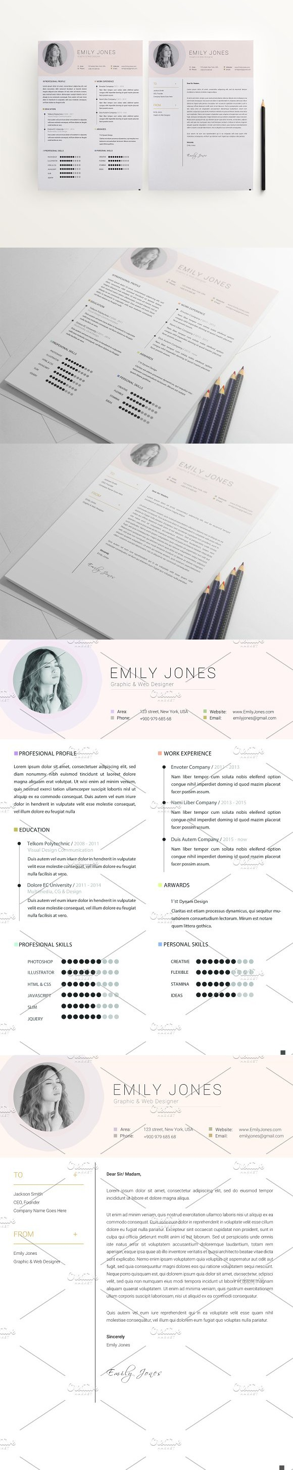 Simple Color CvResume Template C    Cv Resume Template