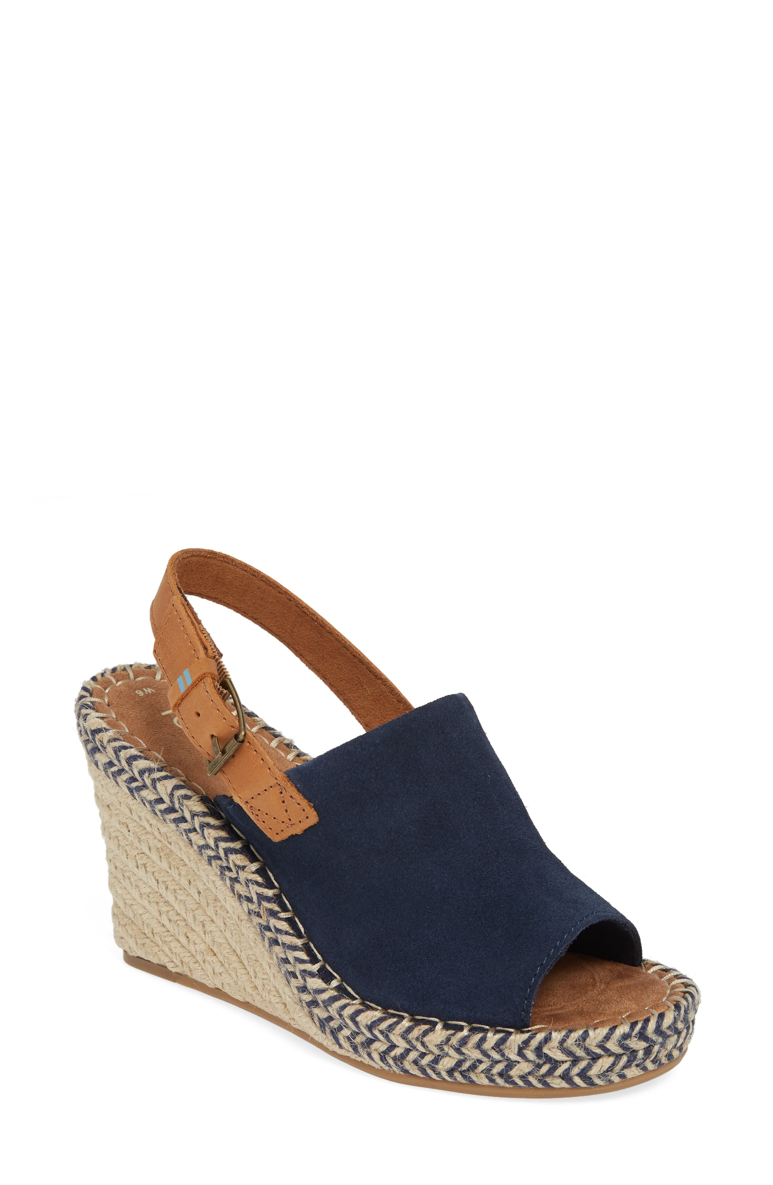 6802546aa1b Toms Monica Slingback Wedge in 2019 | Style Is Everything | Wedges ...