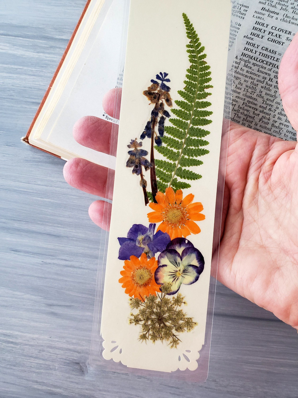 Real Flower Bookmark Natural Pressed Flowers Art Bookmark Flowery Bookmark Friend Student Gardener Pressed Flower Art Pressed Flower Crafts Flower Bookmark