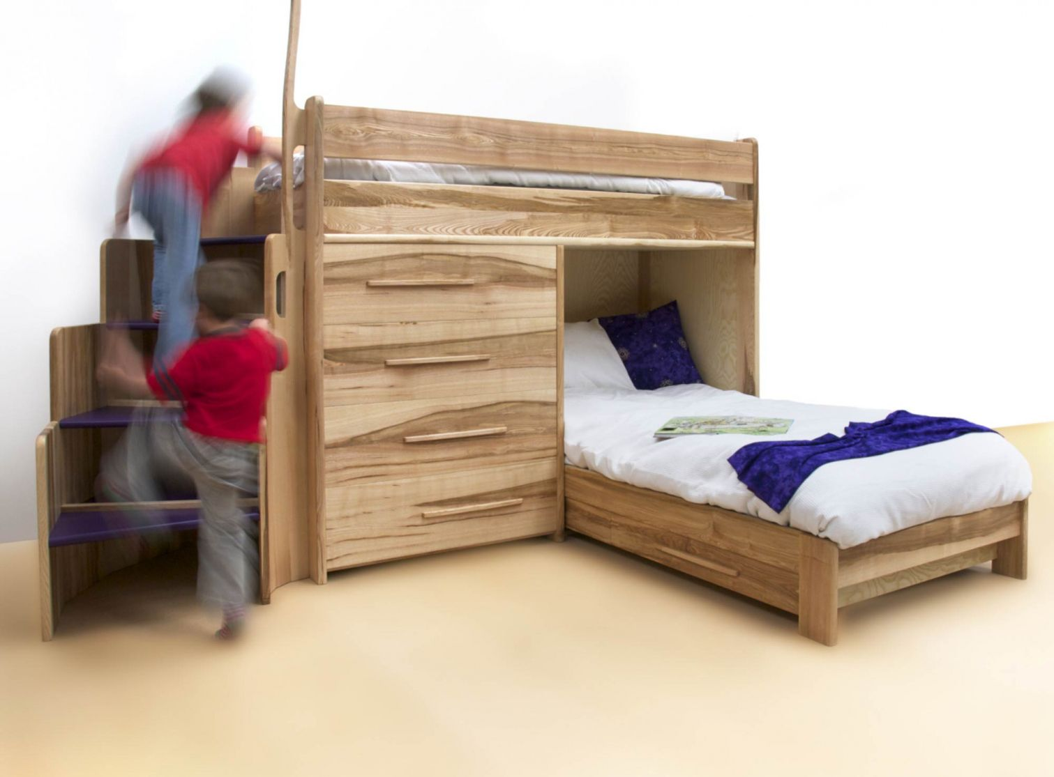 Loft bed with slide plans   Best Mattress for Bunk Beds  Interior Design for Bedrooms Check