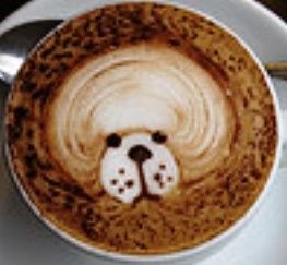 .·:*¨¨*:·. Coffee ♥ Art.·:*¨¨*:·. Dog