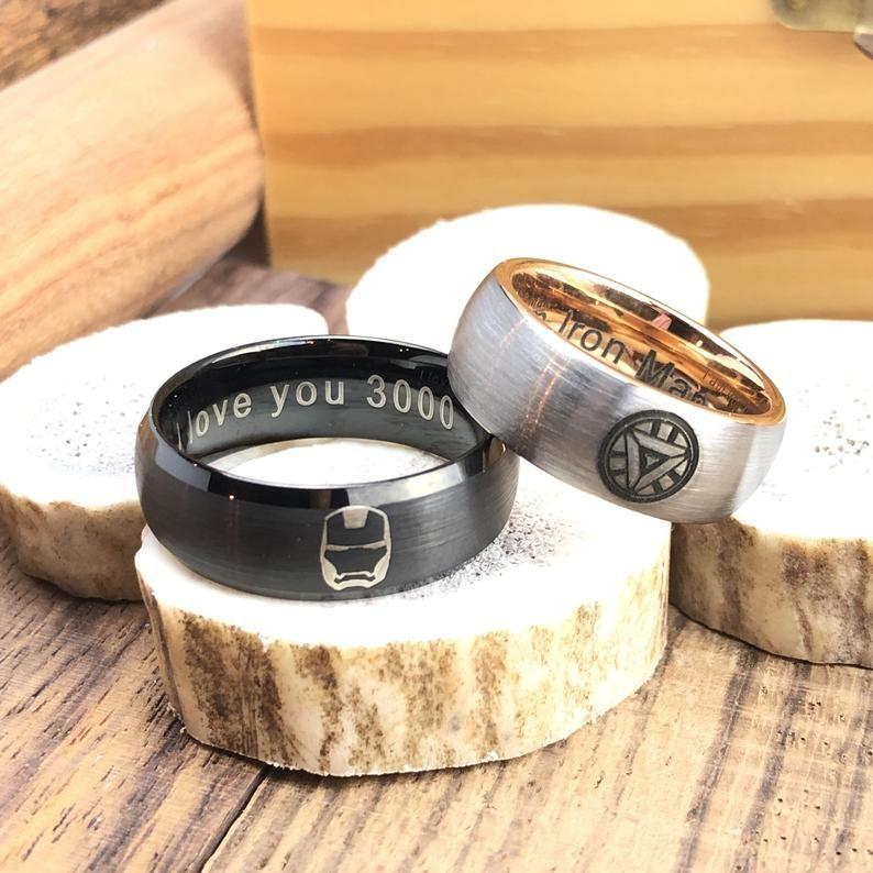 I Love You 3000 Ring Iron Man Reactor Custom Laser Engraved Etsy In 2020 Morganite Engagement Ring Rose Gold Rose Gold Diamond Ring Engagement Rose Gold Halo Engagement Ring