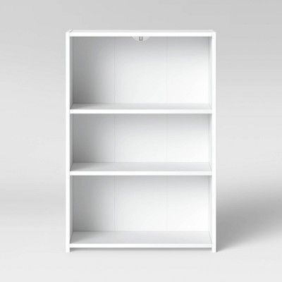 3 Shelf Bookcase White Room Essentials 3 Shelf Bookcase