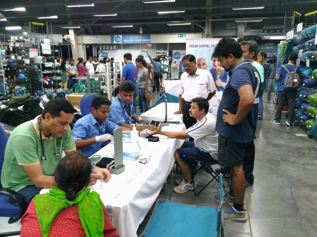 Krishna Shalby Home Care organize Basic health checkup