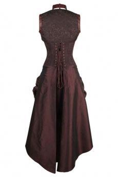 steampunk corset dress in brown brocade authentic steel