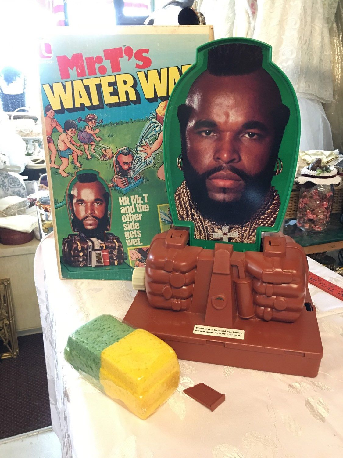 Mr T S Water War Sprinkler Toy Retro 1980 Ateam Collectible