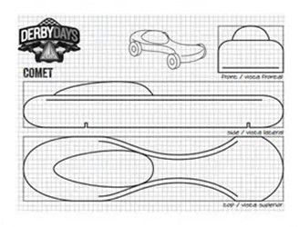 flame template for pinewood derby car 601466
