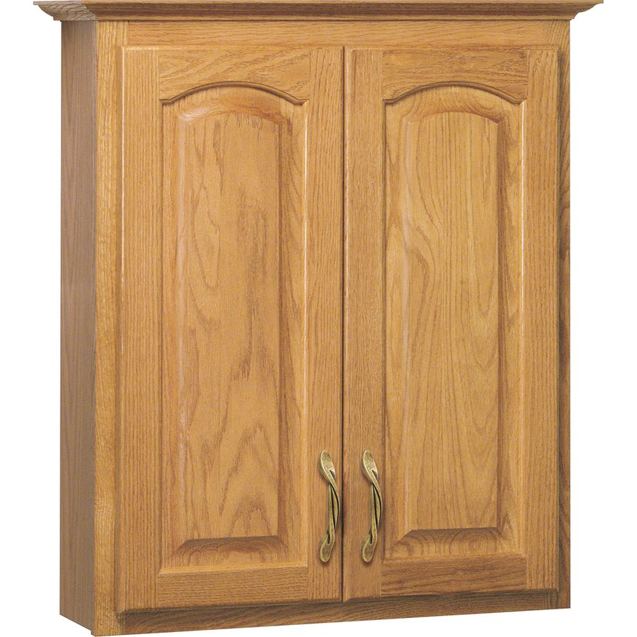 Project Source 25 5 In W X 29 In H X 7 5 In D Golden Bathroom Wall Cabinet Lowes Com Bathroom Wall Cabinets Painting Oak Cabinets Wall Cabinet Lowes bathroom wall cabinets