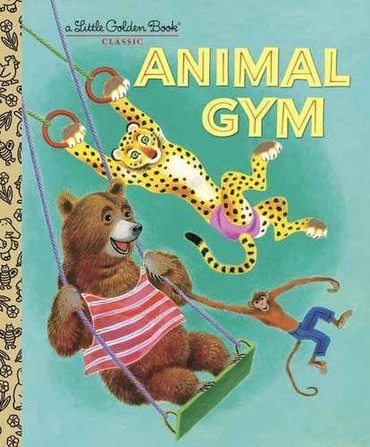Animal Gym (Little Golden Book) by Beth Greiner Hoffman http://www.amazon.com/dp/0375847510/ref=cm_sw_r_pi_dp_RYuSwb1867DBS