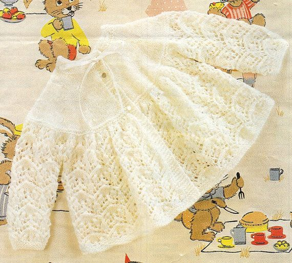 ca07763a7 Baby Matinee Coat Knitting Pattern. PDF Instant Download. ~ so ...