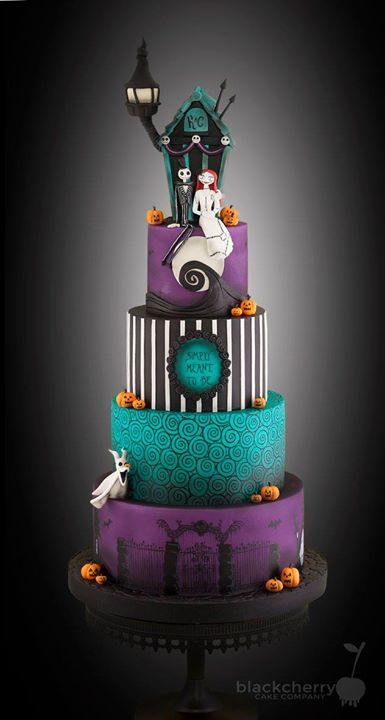 Nightmare Before Christmas wedding cake Cakes Pinterest