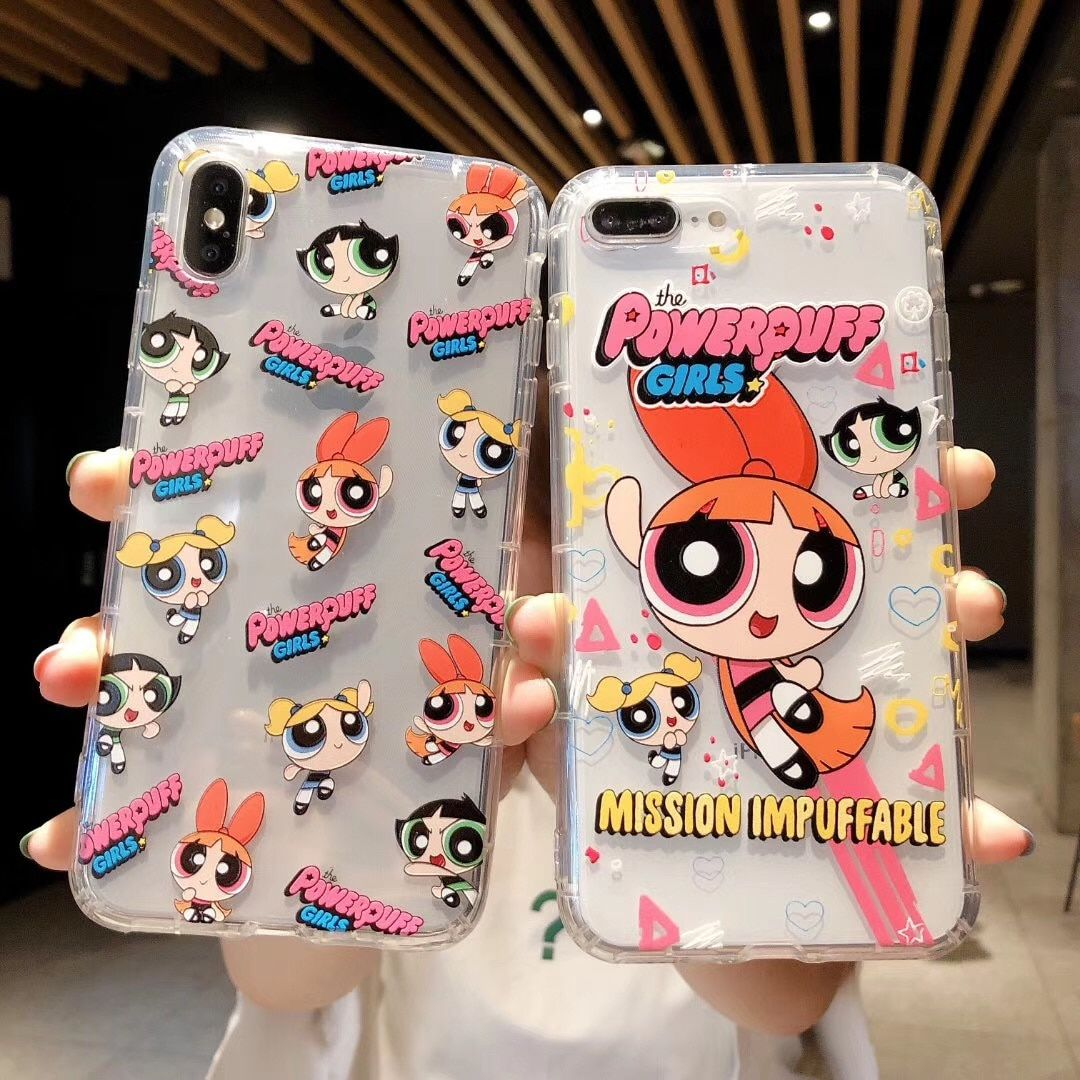 Cute Powerpuff Girls Policemen Phone Case Cover For iPhone 11 Pro XS X Max Xr 8 7 6 s Plus