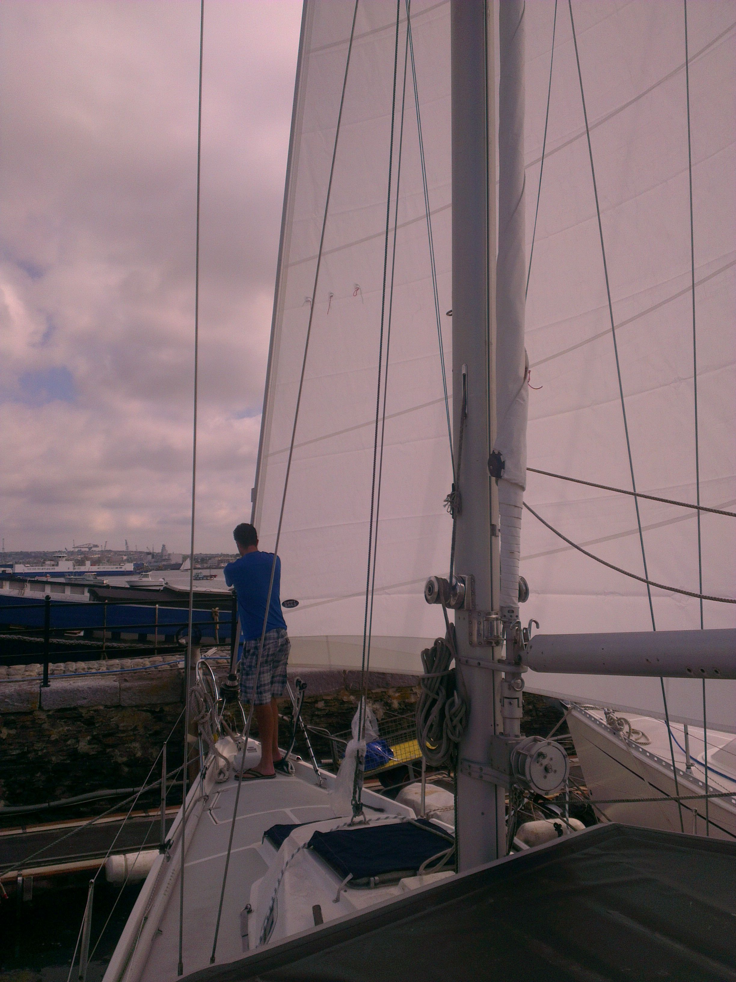 Check out this large new furling headsail for a Contest 34