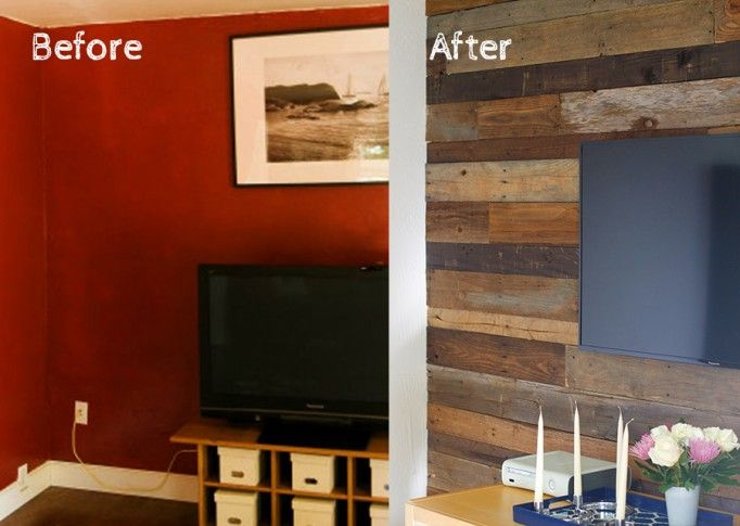 diy reclaimed wood wall wood walls diy interior and accent wall designs. Black Bedroom Furniture Sets. Home Design Ideas