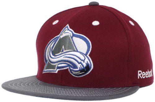 e74c3bae948 NHL Colorado Avalanche Flat Visor Flex Fit Hat adidas.  12.65