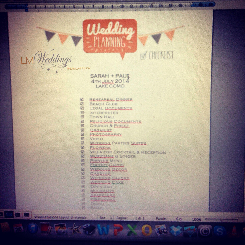 #weddingchecklist #weddingplanner #lovemyjob and #lovemycouples! LM-Weddings.com