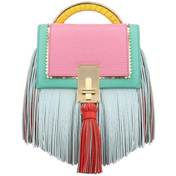 The Volon Bon-bon Mint Color Block Handbag