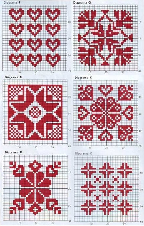 Søte mønstre som like gjerne kan brukes til broderi som til fair ...