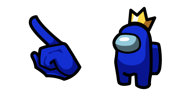 Among Us Blue Character In Crown Character Sticker Template Minecraft Wallpaper