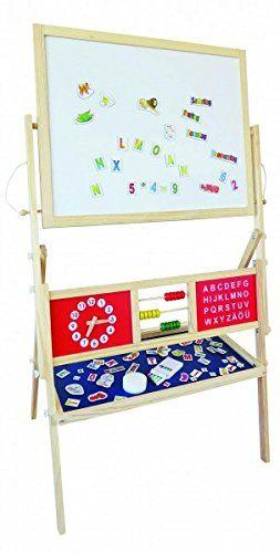 maltafel f r kinder standtafel magnettafel mit papierrolle viel zubeh r spielzeug. Black Bedroom Furniture Sets. Home Design Ideas
