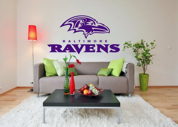 Baltimore Ravens Premium Removable Wall Art Decor by Signs4Half $18.00 : baltimore ravens wall decals - www.pureclipart.com