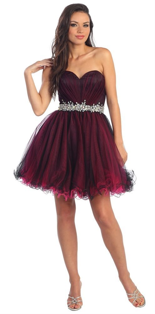 Cocktail Strapless Sweetheart Party Dress Features Ruched Bodice Homecoming   #ThedressoutleT #Formal
