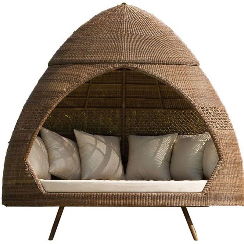 Alexander Rose San Marino Relax Hut with Cushions | Enclosed Lanai ...