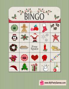 picture relating to Printable Christmas Bingo Game called Free of charge Printable Xmas Bingo Recreation Card 13 Xmas 2017