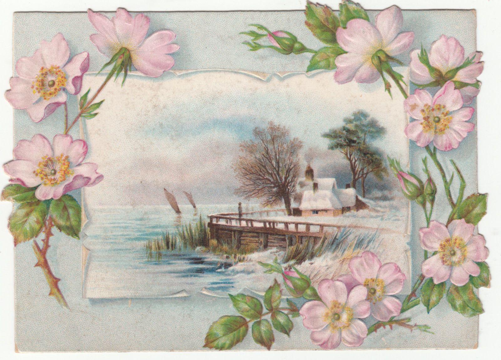 Умные, открытки винтажные пейзаж