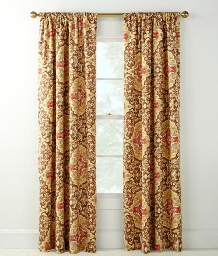 Antiqued Watercolor Lined Rod Pocket Curtains $199.95   $229.95