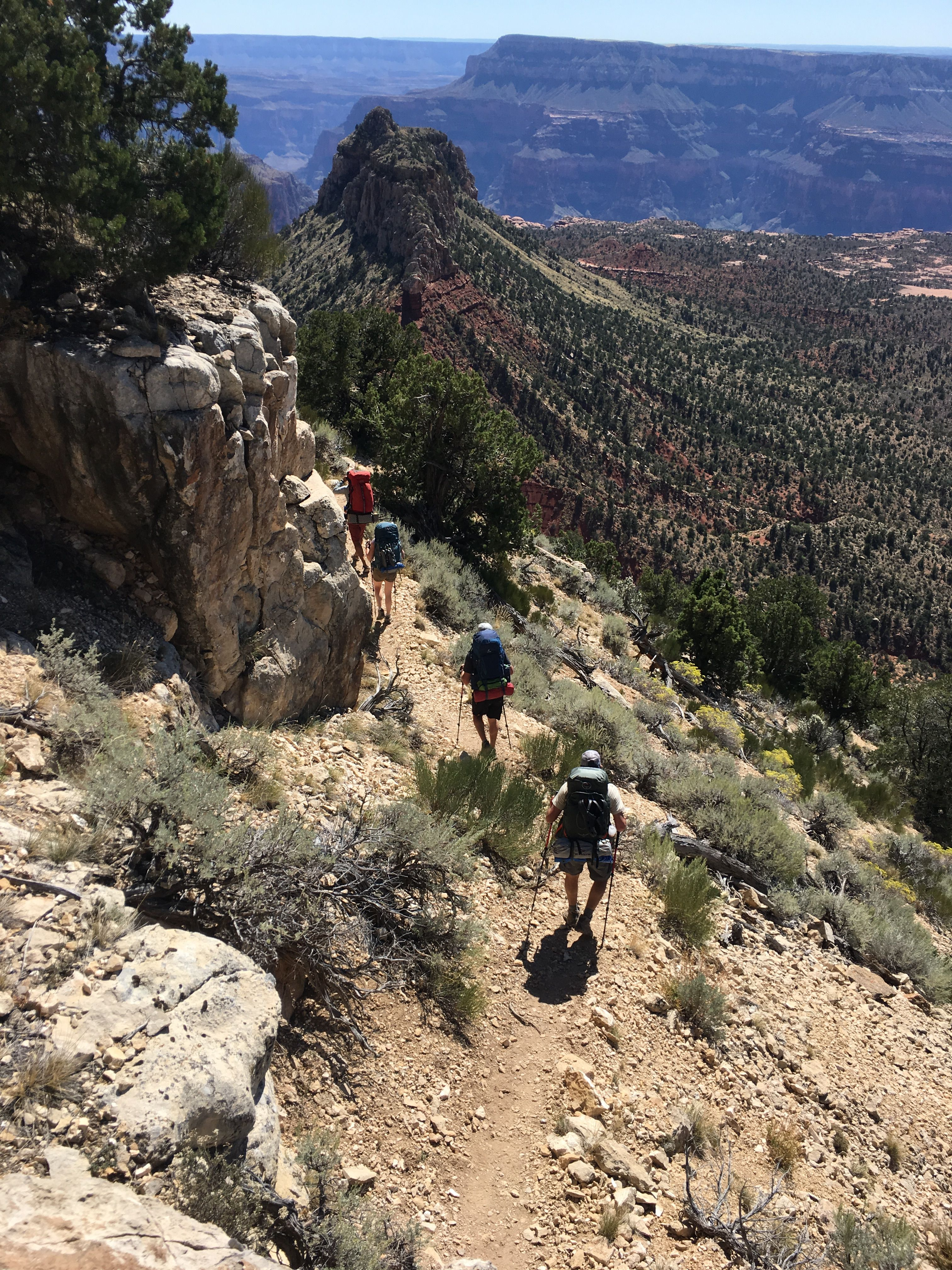 Guided backpacking trip with Four Season Guides into the Grand Canyon.