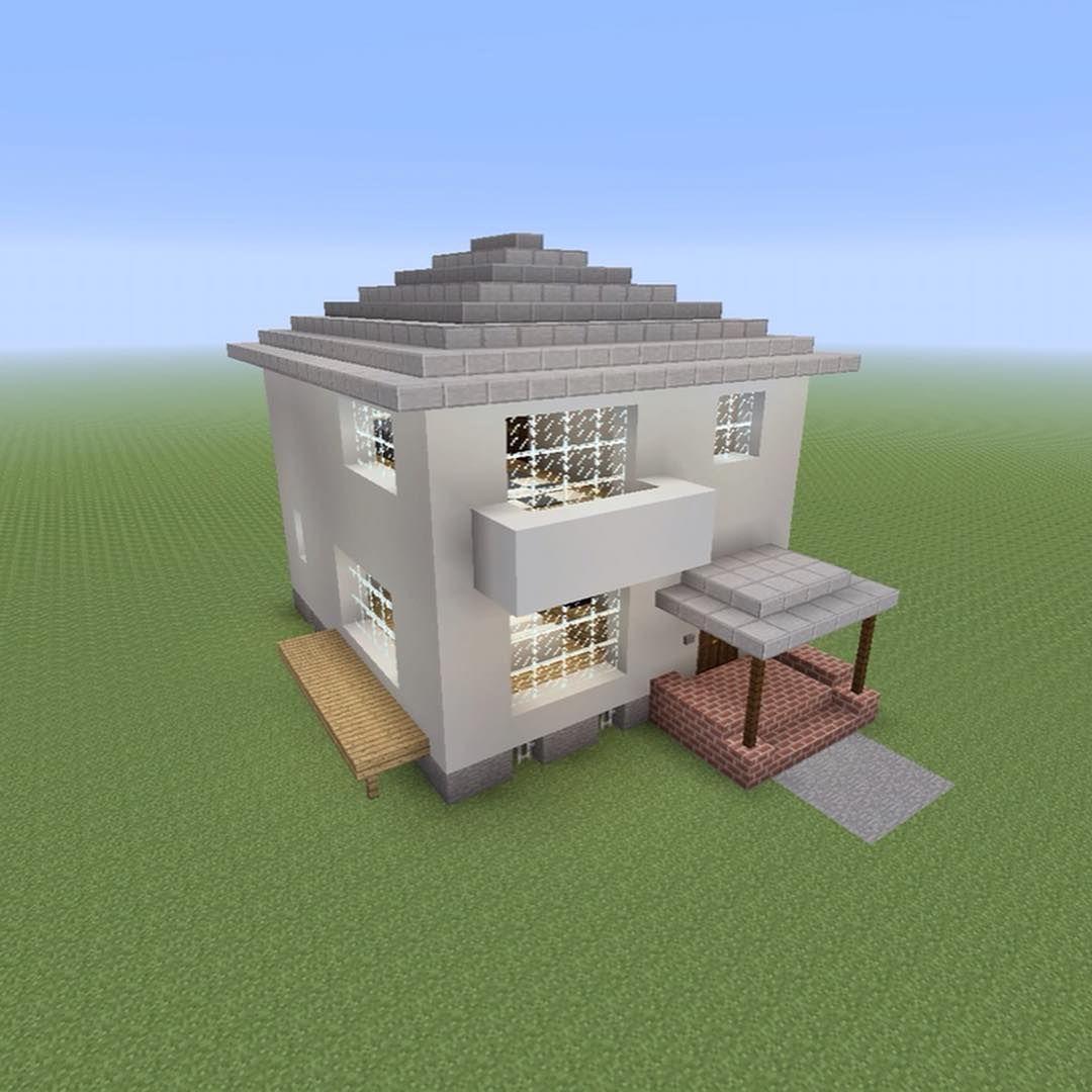 現代風の家を作りました Minecraft Minecrafter マインクラフト