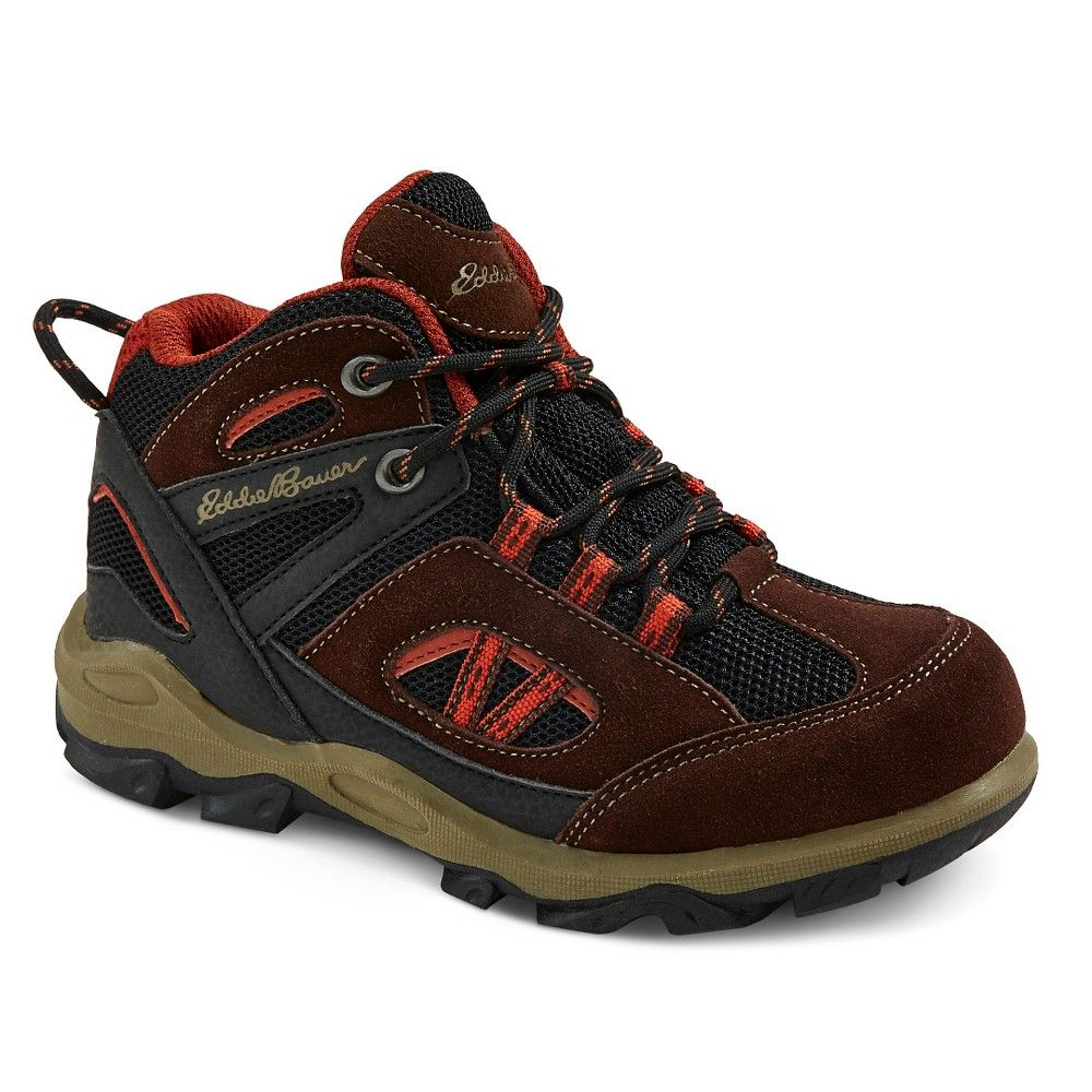 Eddie Bauer Boys' Utility Hiking Boots - Brown 13, Boy's