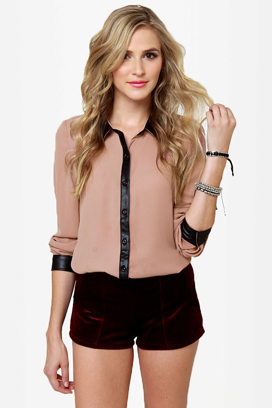 Livin' On the Edge Blush Button-Up TopLove it!  $45