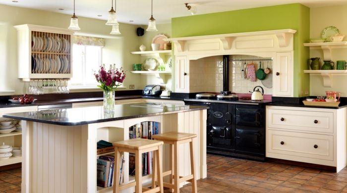 Cocinas rusticas de obra cocina con isla alta horno - Fotos de cocinas rusticas de obra ...