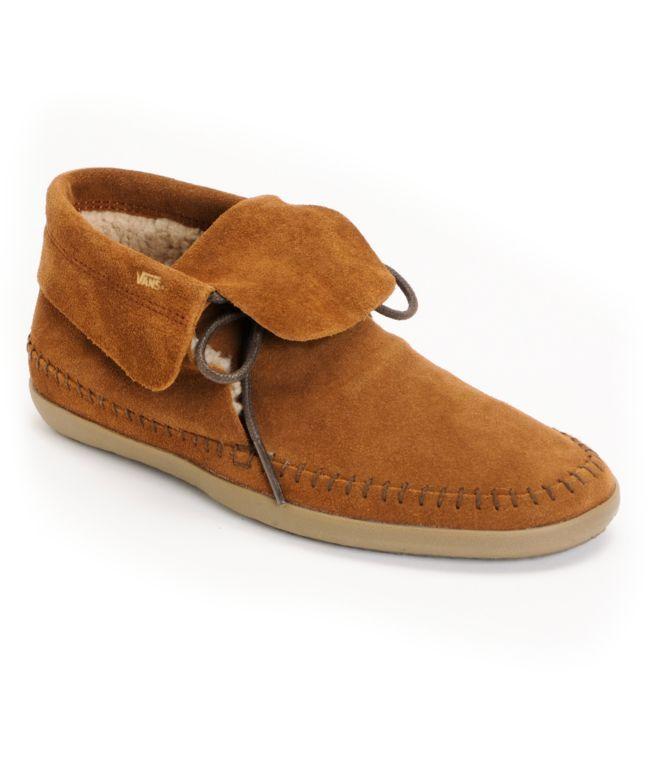 ebdbc37a55 Vans Mohikan Mid Brown   Fleece Slip On Shoes