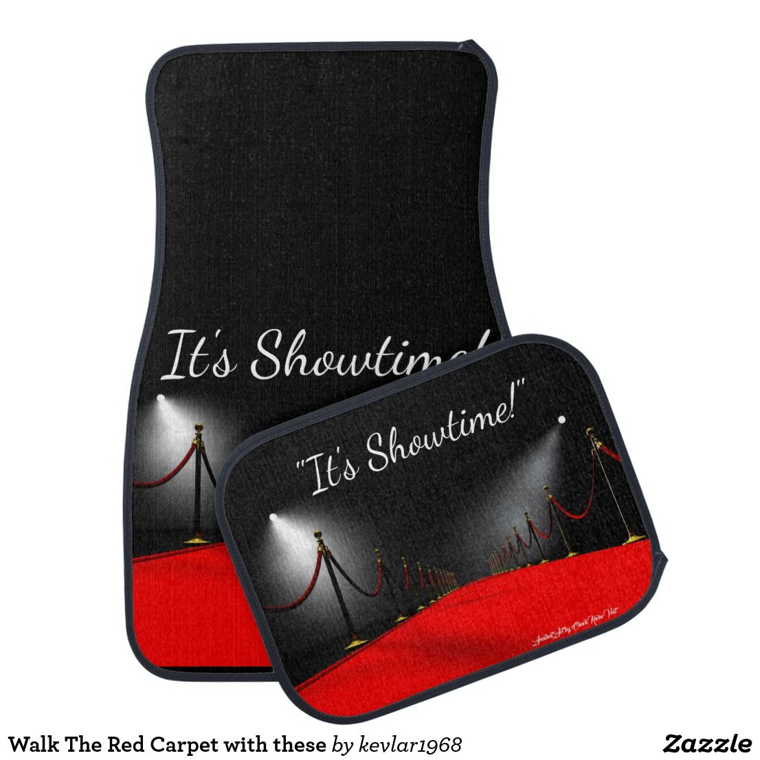 Walk The Red Carpet With These Car Floor Mat Zazzle Com With