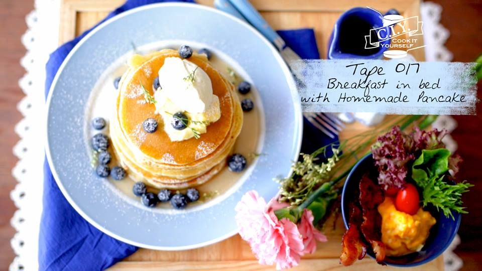 Breakfast in bed wiht Homemade Pancake  https://www.facebook.com/SangdadPublishing/photos/a.697617983585580.1073741838.457251584288889/813062818707762/?type=1&theater