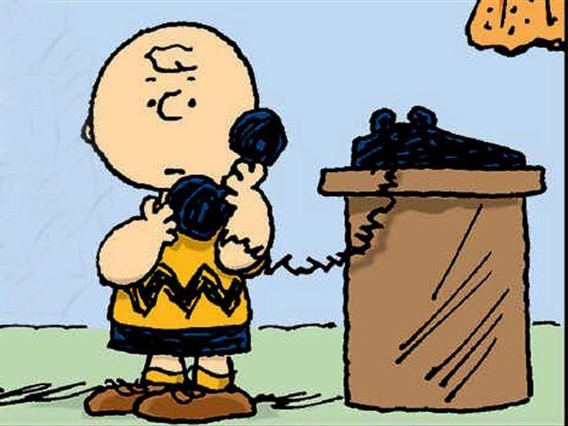 Risultato immagini per peanuts telefono