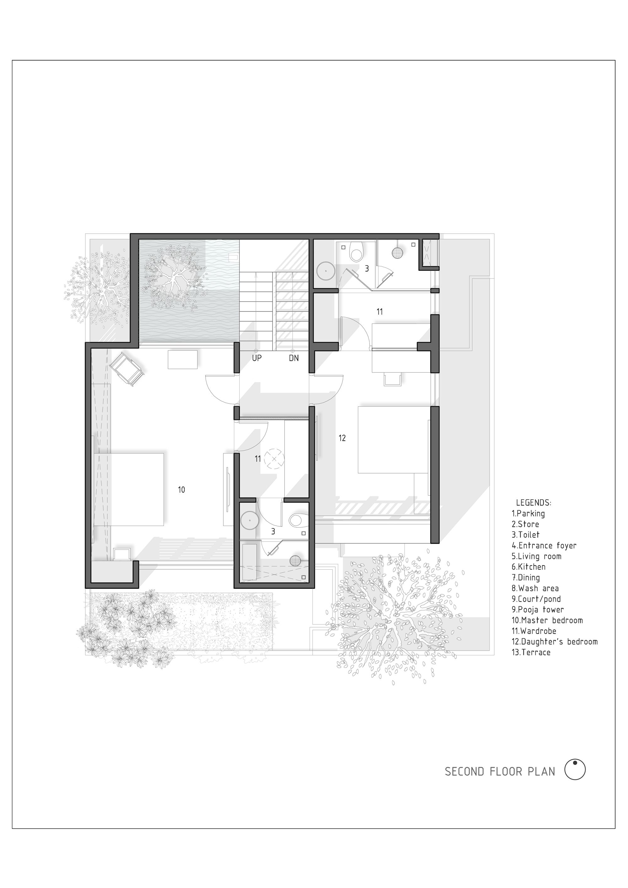 Gallery Of The H Cube House Studio Lagom 23 Floor Plans House Design Cottage Floor Plans