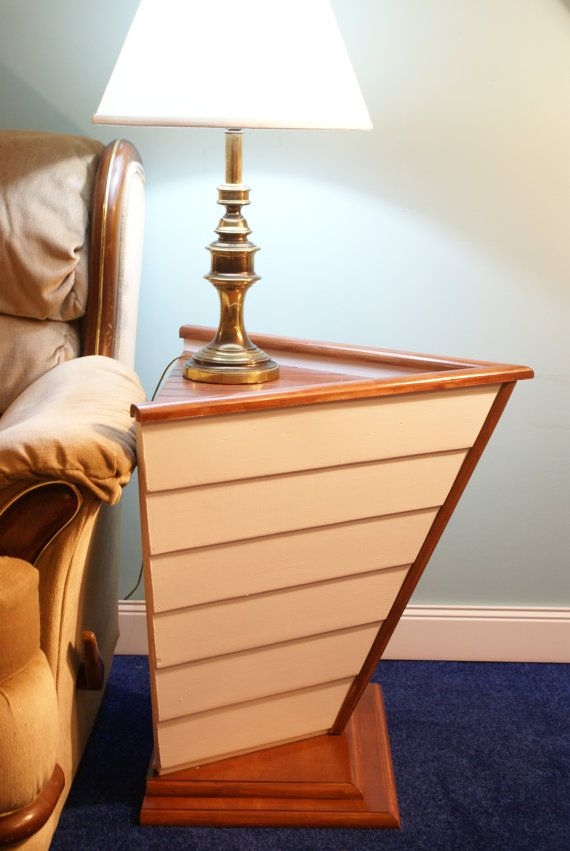 Nautical Furniture End Table Boat Decor For The Bedroom