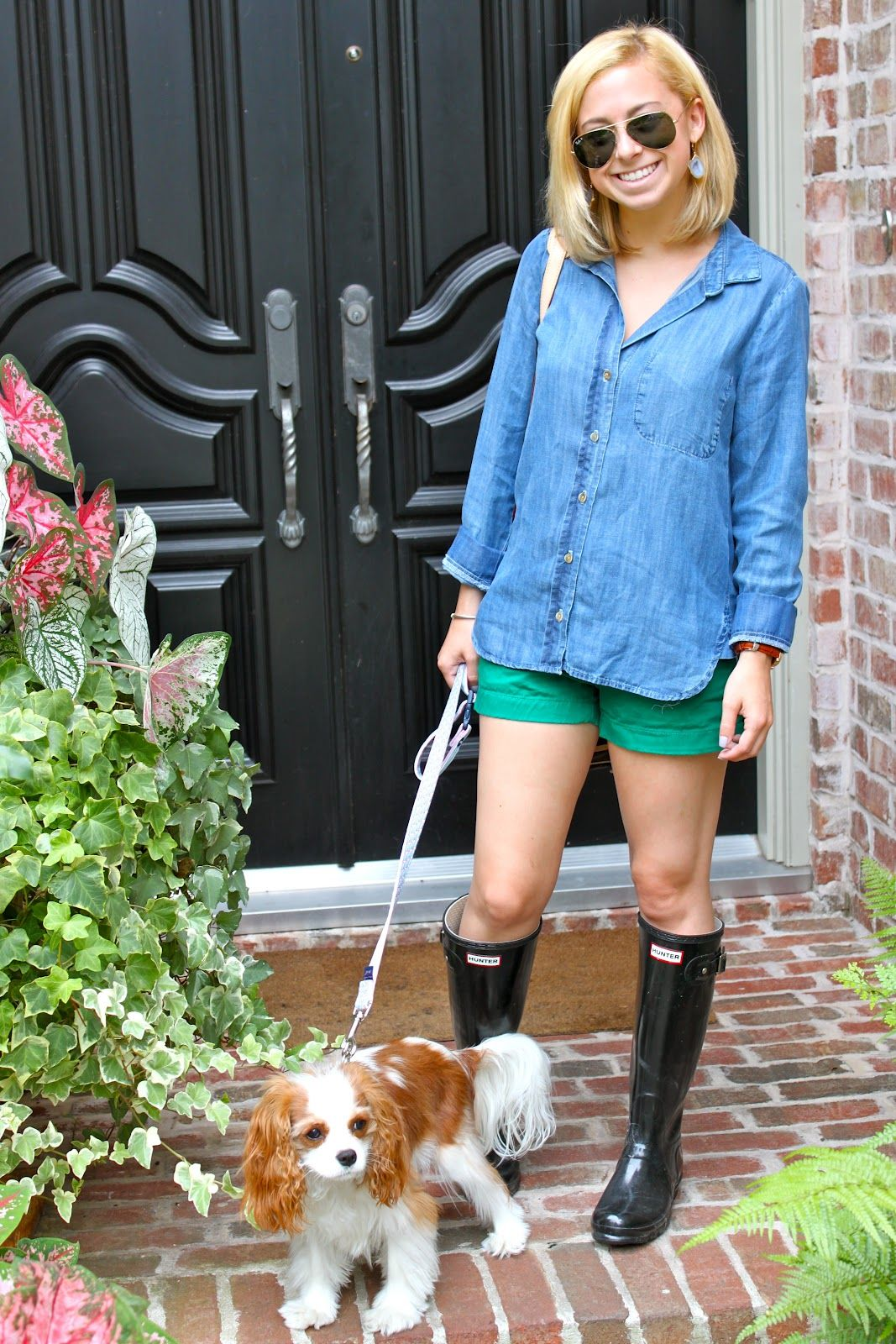 85e17be4377 anthro shirt, jcrew shorts, hunter boots | clothes clothes clothes ...