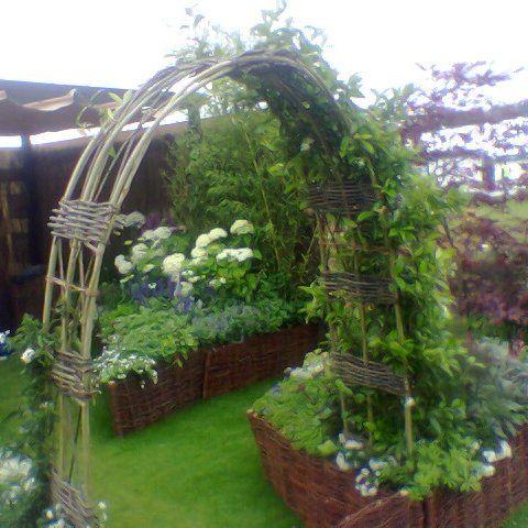 Willow Garden Arch | Garden arches, Gardens and Allotment