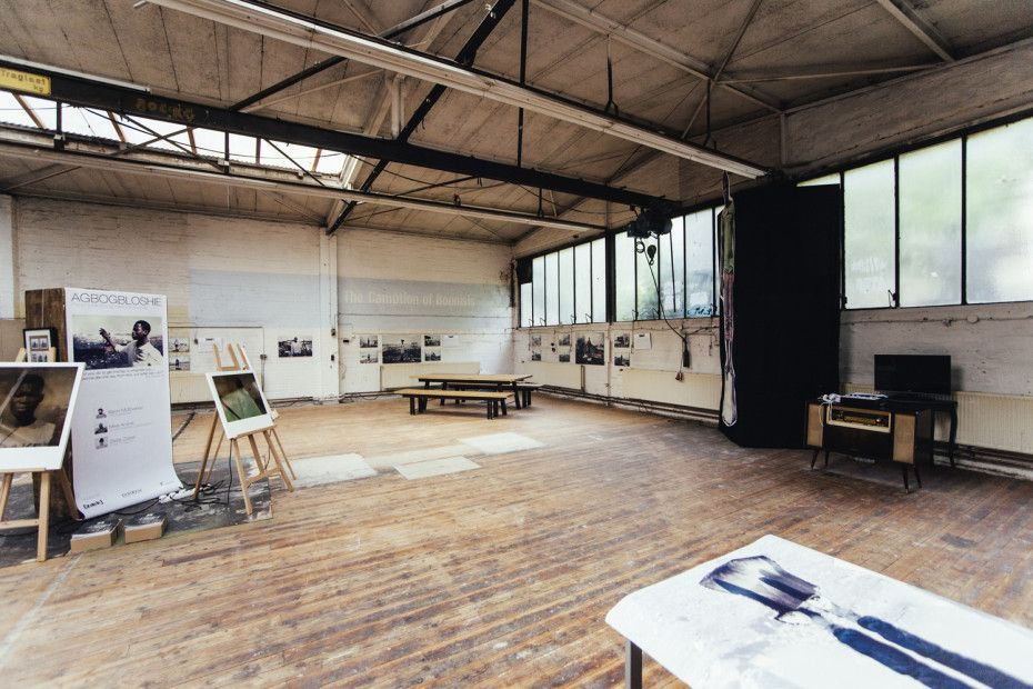 The Kitchen Guerilla office and kitchen studio set up in a garage in ...