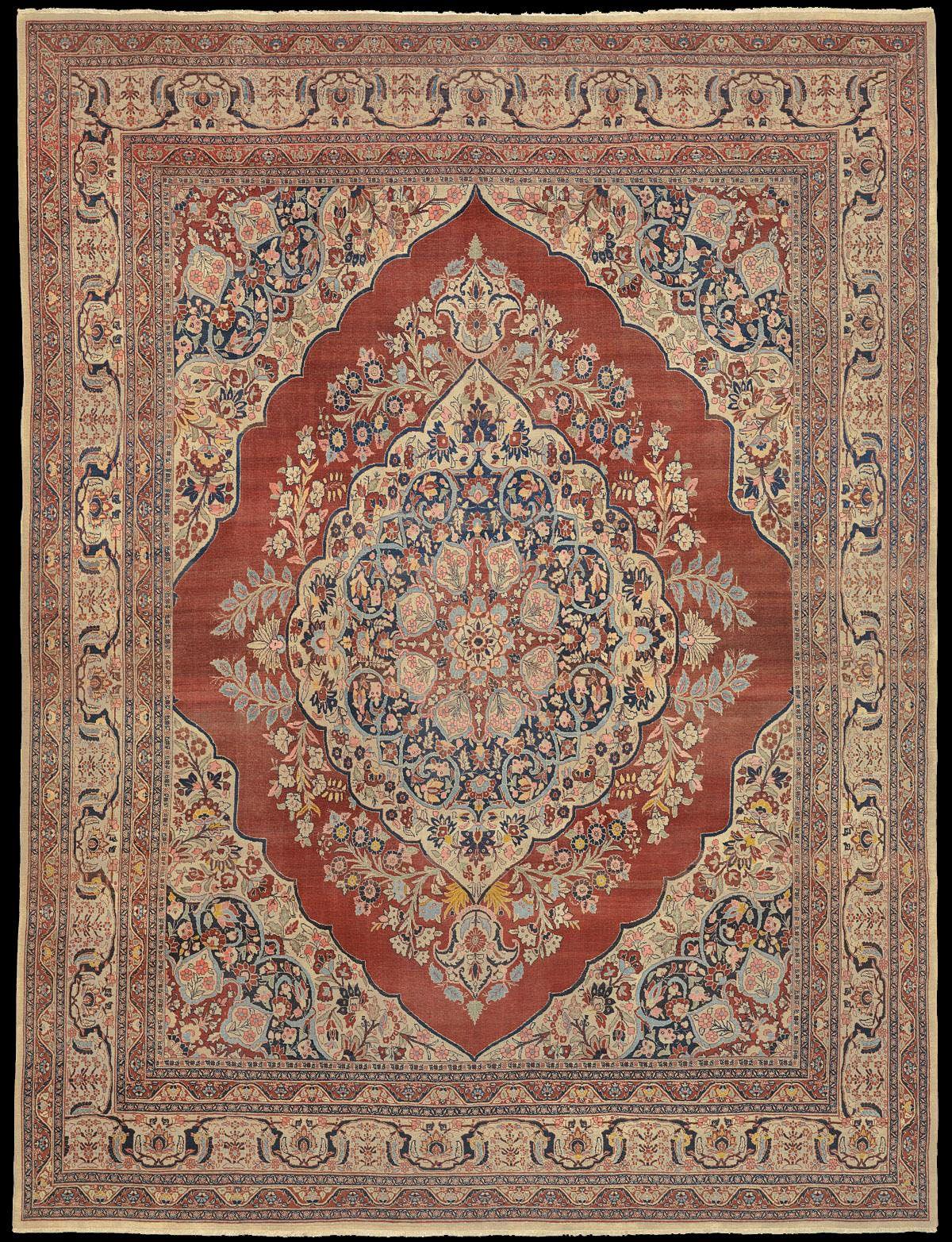 Hadji Jalili Tabriz Carpet Bohemian Rug Tapestry Carpet