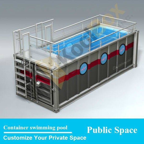Source Koolbox Mobile Container Swimming Pool Design Waterproof Portable Swimming Pool For Sale