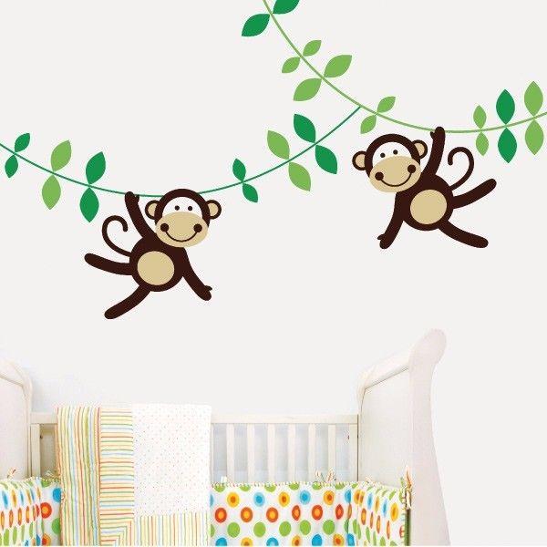 Happy monkeys infantil my vinilo vinilos decorativos decoraci n de pared papel tapiz - Donde venden vinilos decorativos ...