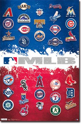 MLB - Logos 12 Poster | Posters | Mlb teams, Mlb team logos
